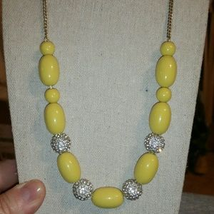 J. Crew Gold, Yellow & Pave' Statement Necklace